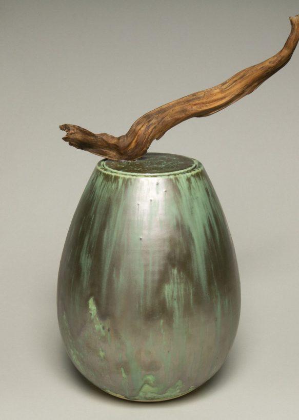 Urna na prochy w kolorze turkusowo srebrzystym